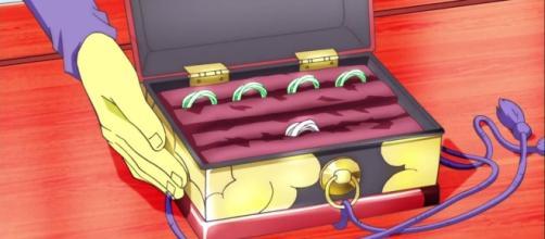 Imagen de los anillos del tiempo en su mitica caja