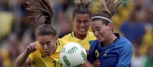 Seleção feminina perdeu para Suécia (Divulgação/Internet)