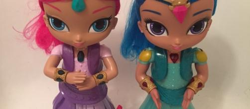 "Mattel is offering a huge array of ""Shimmer and Shine"" toys, including these ""Wish & Spin"" dolls. / Photo via Meagan J. Meehan, Blasting News."
