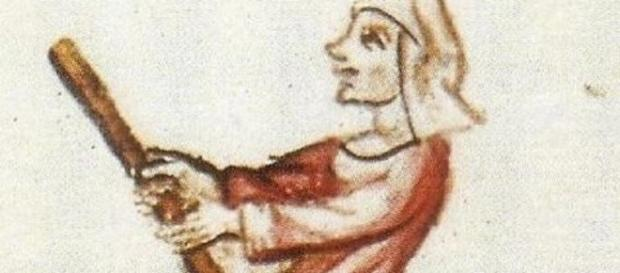 15th Century depiction of a witch (Public domain)