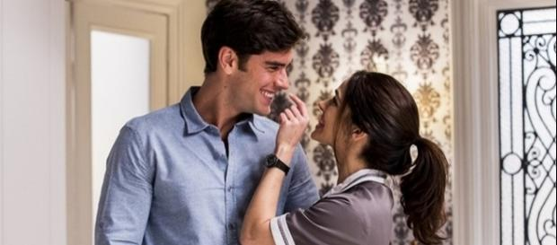 Felipe e Shirlei se beijarão (Divulgação/Globo)