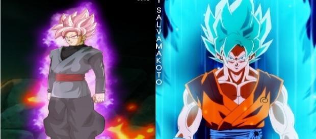 imagen de goku vs black en el futuro!