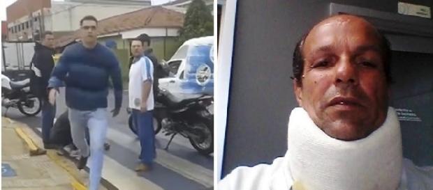 Repórter agredido durante reportagem sobre acidente de trânsito