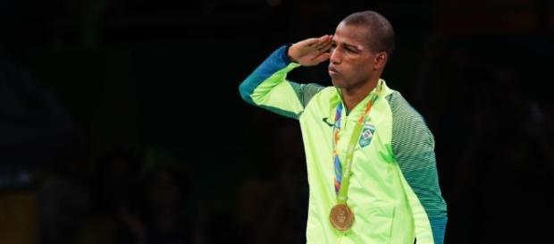 Robson Conceição, medalhista de ouro no Boxe e terceiro sargento da Marinha. (Foto: Fernando Frazão/Agência Brasil)