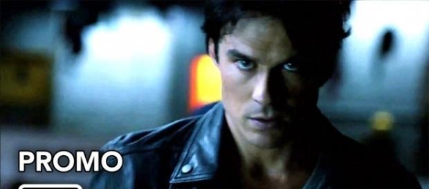 The Vampire Diaries 8ª temporada: Damon Salvatore (Foto: CW/YouTube)