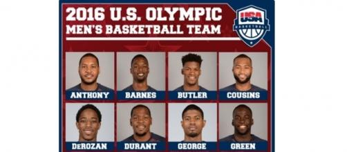 2016 USA Olympic Basketball Roster. Photo c/o thestashed.com.