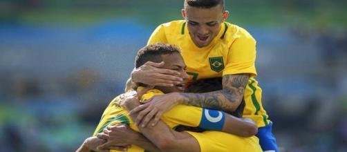 Com 6 a 0 sobre Honduras, Brasil garantiu presença na decisão do futebol masculino da Rio 2016 (Foto: Daniel Kfouri/VEJA)