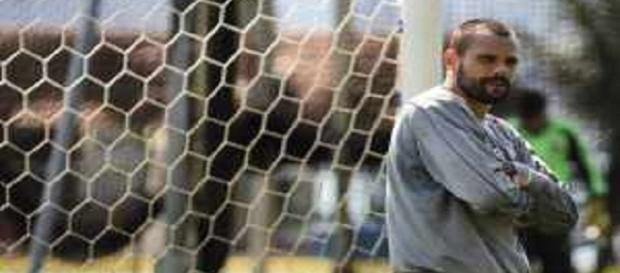 Diego Cavalieri em treino na Urca