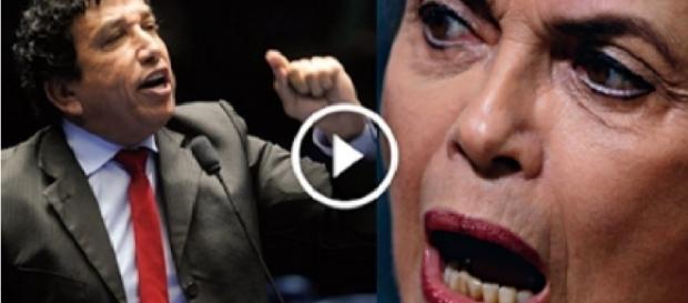 Magno Malta e Dilma Rousseff - Foto/Montagem