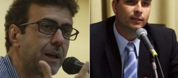 Marcelo Freixo e Bolsonaro - Foto/Montagem