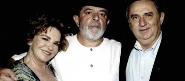 Marisa Letícia, Lula e Bumlai - Foto/Montagem