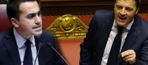 Il prossimo candidato premier del M5S Luigi Di Maio contro l'attuale presidente Matteo Renzi
