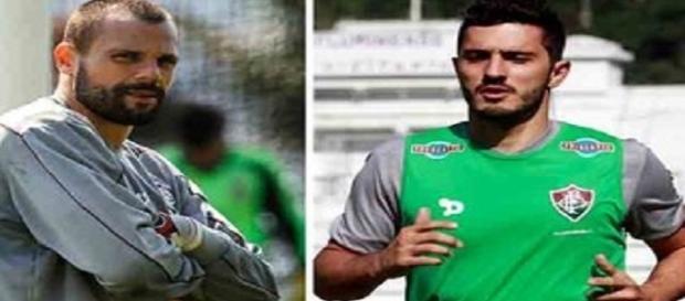 Cavalieri e Marquinho lembram de 2011 para manter confiança em vaga na próxima Libertadores (Foto: Montagem/Globoesporte)