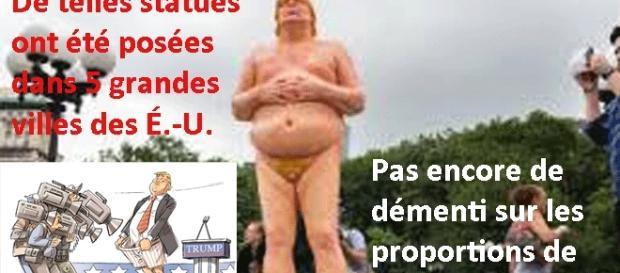 Des statues d'un Trump bedonnant peu avantagé par la nature, font le buzz aux États-Unis