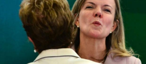 Dilma Rousseff e Gleisi Hoffmann - Foto/Montagem
