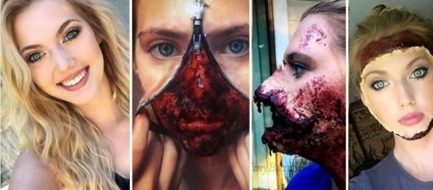 Ela faz maquiagens aterrorizantes, mas todos a admiram por tamanho profissionalismo