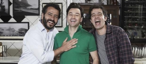 Marcos Palmeiras, Emilio Orciollo Neto e Bruno Mazzeo estrelam a nova série. (Foto: Divulgação Multishow)