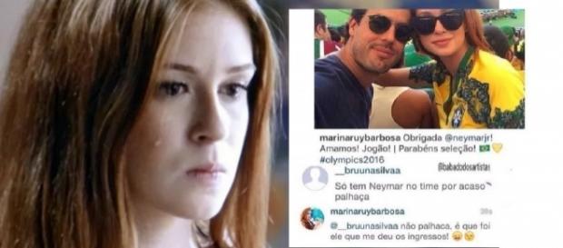 Marina Ruy Barbosa chama seguidora de 'palhaça'