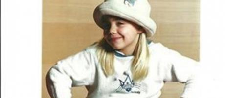 Ainda muito jovem já era lourinha.