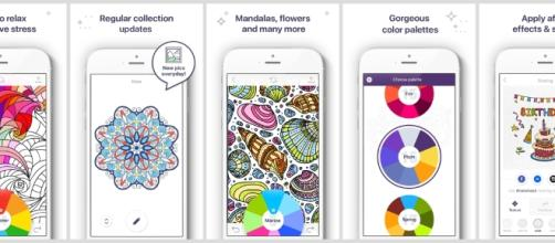 """""""Coloring Book for Me"""" is an app that enables people to color without making a mess. / Photo via Erin Fisher, DottedLineComm. Used with permission."""
