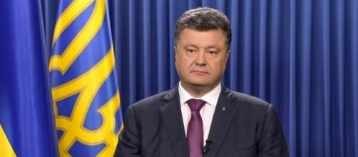 Il presidente ucraino, Petro Poroshenko
