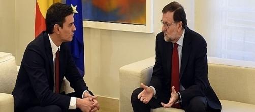 Sánchez y Rajoy, encuentro en un sala 'neutral' del Congreso - telecinco.es