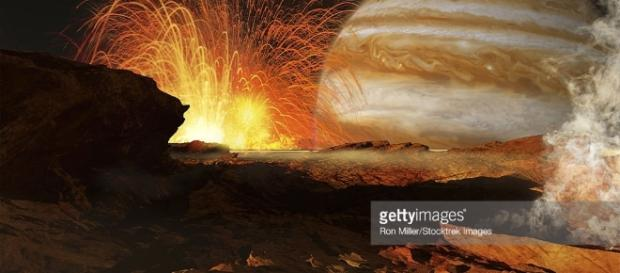 A Scene On Jupiters Moon Io The Most Volcanic Body In The Solar ... - gettyimages.ca