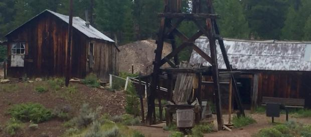 The famous Matchless Mine and Baby Doe's cabin along the bike trail/photo Claudia Carbone