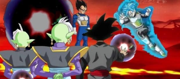 Trunks pelea a muerte contra Zamasu.