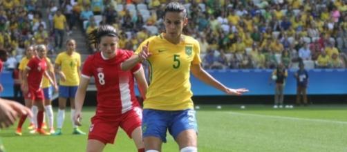Seleção feminina não conseguiu superar o Canadá e deixou o bronze escapar