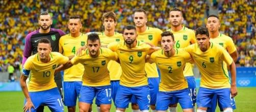 The Brazilian men's football team for the 2016 Rio Olympics. Photo c/o Wikimedia Commons.