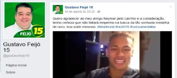 Neymar é usado ilegalmente em campanha eleitoral
