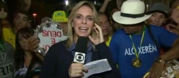 Repórter da Globo passa por sufoco ao vivo
