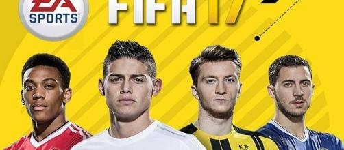 La copertina del videogioco Fifa 17