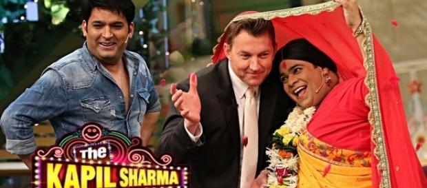 Brett Lee at the Kapil Sharma show (Youtube screengrab)