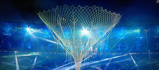 Imagen de TVE, retransmisión Ceremonia de Clausura Río 2016