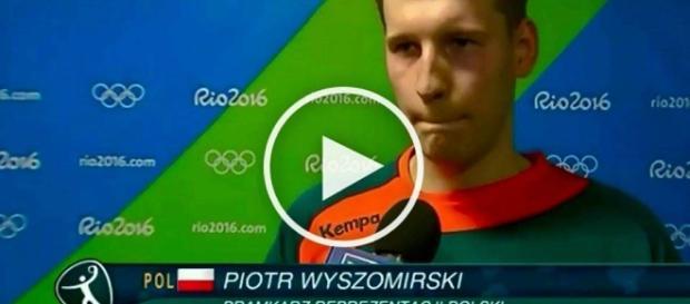 Piotr Wyszomirski po meczu Polska - Niemcy.