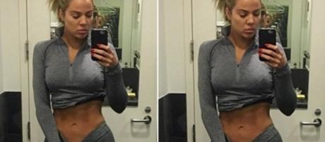 Khloe bajó 20 kilos de peso en poco tiempo