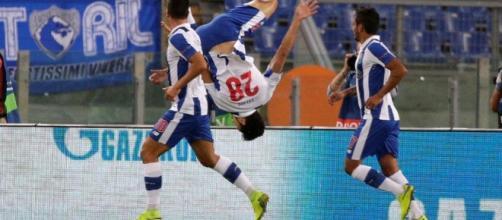 Celebracion de el gol del Oporto