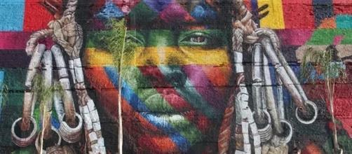 Mural 'Etnias', do grafiteiro Eduardo Kobra foi grande sucesso durante a Olimpíada Rio-2016 (Foto: Divulgação/Estúdio Retrato)