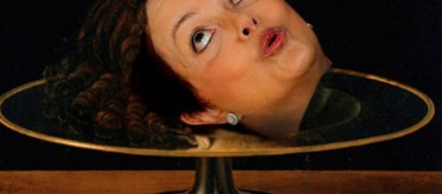 Dilma Rousseff e a cabeça cortada - Foto/Reprodução