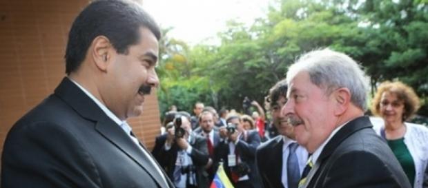 Nícolas Maduro e o ex-presidente Lula