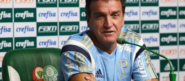 Treinador do Palmeiras em coletiva