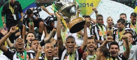 Atlético Mineiro, campeão da Copa do Brasil em 2014.