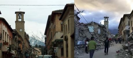 Amatrice antes y después del terremoto