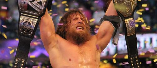 Daniel Bryan wins the WWE World Heavyweight title at WrestleMania XXX. Photo c/o Wikimedia Commons.