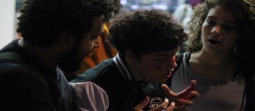 Estudante é ferida durante repressão policial em São Paulo