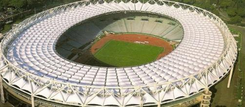 """Lo Stadio """"Olimpico"""" di Roma, teatro della sfida di sabato sera tra Lazio e Juventus"""