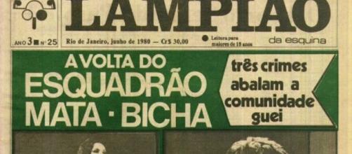 O jornal Lampião da Esquina, feito por ativistas homossexuais, dedicou-se a denunciar a violência contra a comunidade LGBT.