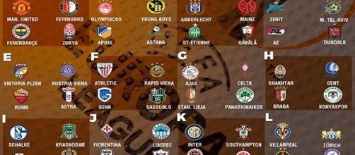 Todos los grupos de la UEFA Europa League